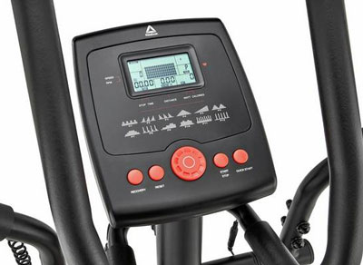 Console of a low-budget elliptical trainer